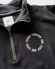 Load image into Gallery viewer, Texas Forever Circle Quarter-zip (Black/White)