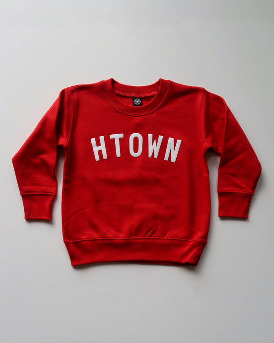 The Htown Toddler Crewneck (Red/White)