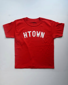 The HTOWN Tee - YOUTH (Unisex Red/White)