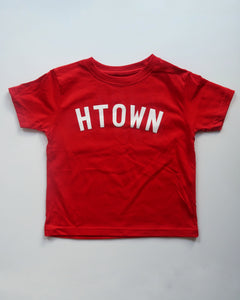 The HTOWN Toddler Tee (Red/White)