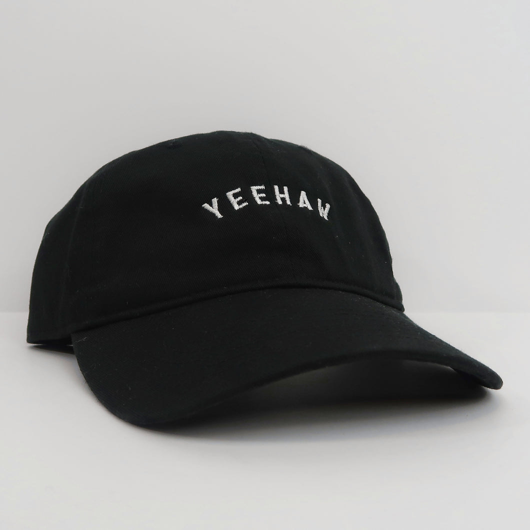 The Yeehaw Hat (Black/White)