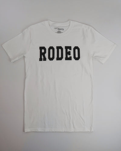 The Rodeo Tee (White/Black)