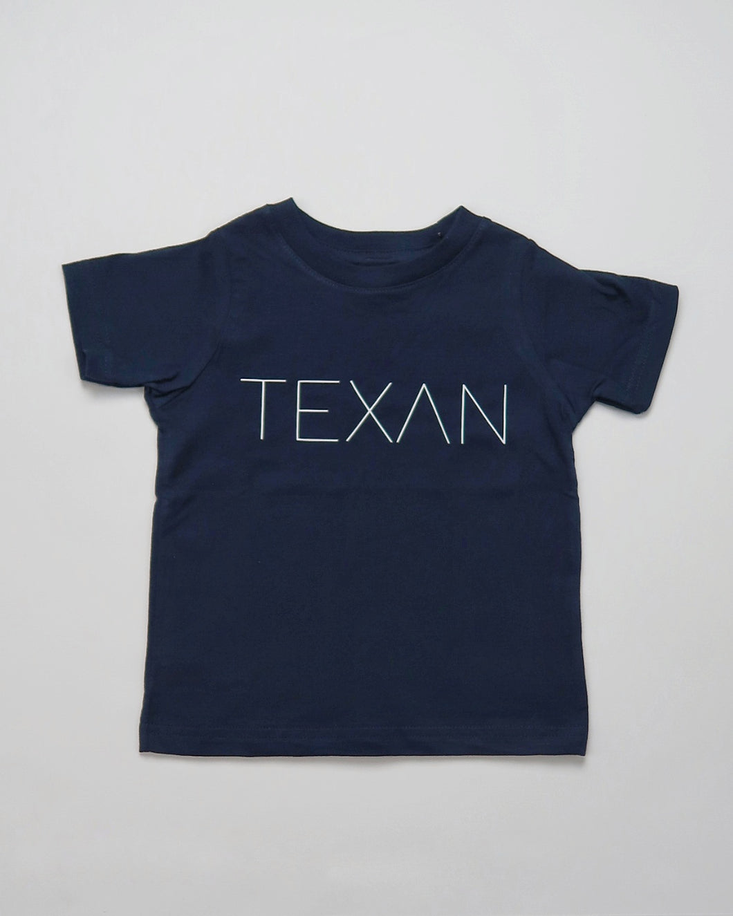 Kids Texan Pencil Tee  (Navy/White)