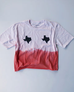 Dip-Dyed Cropped Texas Tata Tee