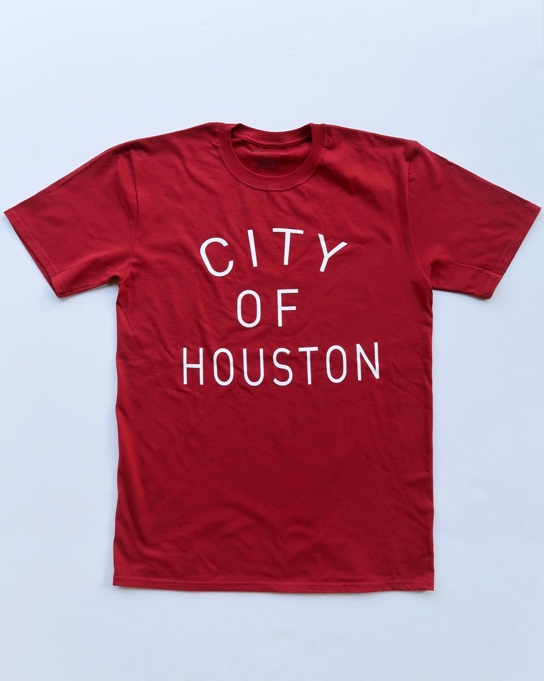 The City of Houston Tee (Unisex Red/White)