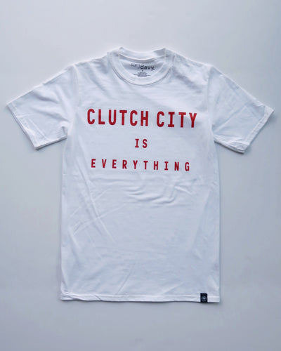The Clutch City is Everything Tee (Unisex White/Red)