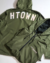Load image into Gallery viewer, The HTOWN Reflective Windbreaker (Unisex Military Green)