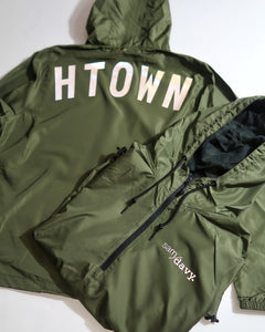 The HTOWN Reflective Windbreaker (Unisex Military Green)