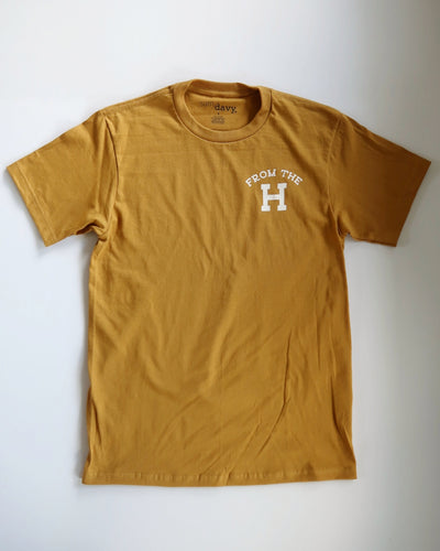 From the H Tee (Wheat/White)