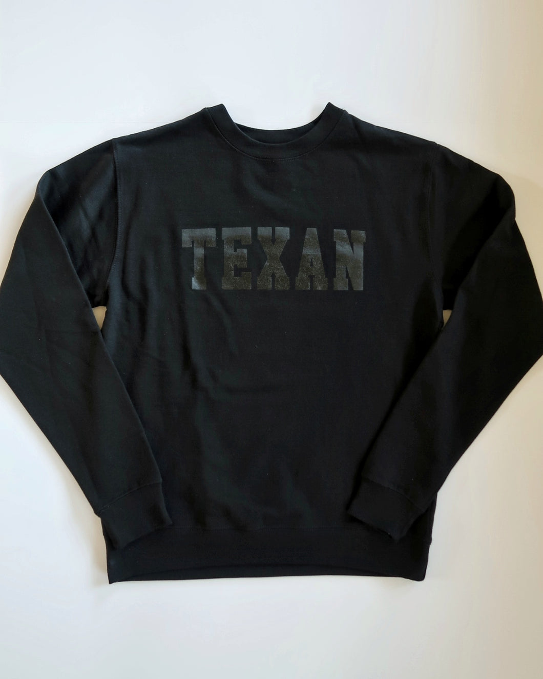 Texan Collegiate Crewneck (Black/Black)