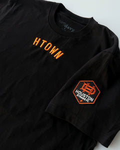 The Sam & Davy × Houston Dynamo Embroidered Tee (Unisex Black)