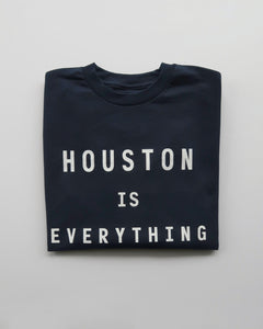 The Houston is Everything Long Sleeve Tee (Navy/White)