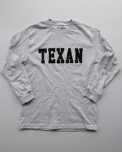 Load image into Gallery viewer, The Texan Collegiate Long Sleeve Tee (Ash Grey/Black)
