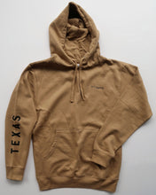 Load image into Gallery viewer, The Texas Sleeve Hoodie (Unisex Tan/Black)