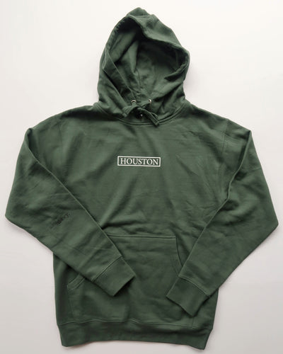 The Houston Stamp Hoodie (Unisex Evergreen)