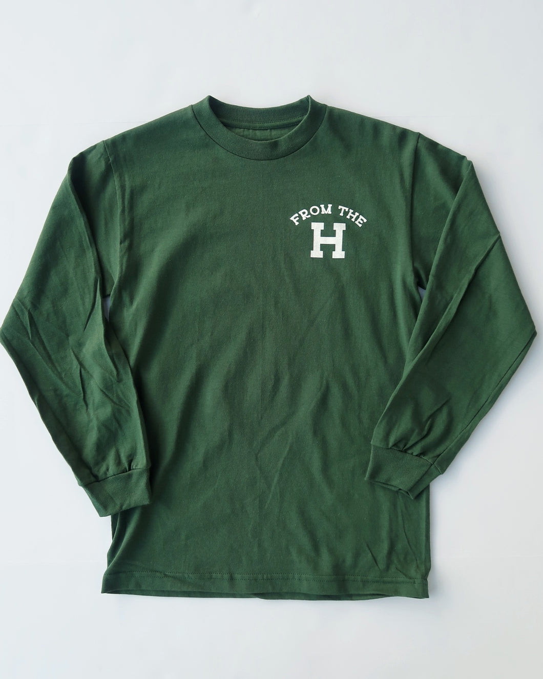 From the H Long Sleeve Tee (Forest/White)