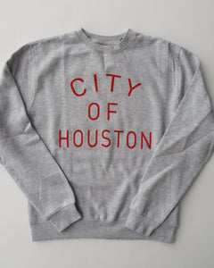 The City of Houston Crewneck (Unisex Grey/Red)