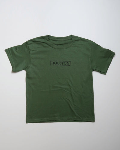 Houston Stamp Youth Tee (Military Green/Black)