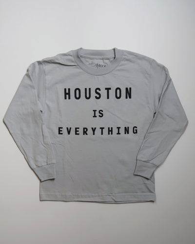 Houston is Everything Youth Longsleeve Tee (Steel/Black)