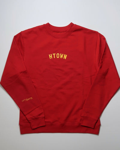 Mini HTOWN Limited Edition Crewneck Sweatshirt (Unisex Red/Yellow)