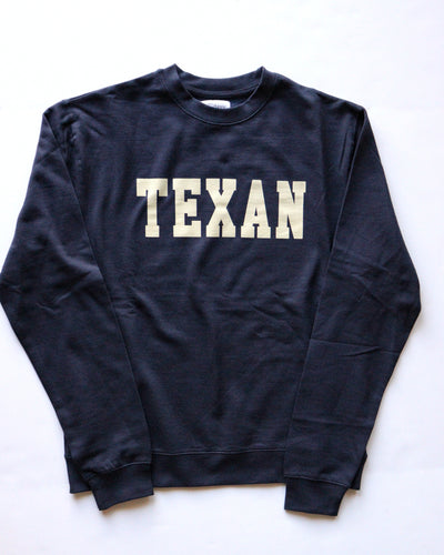 Texan Collegiate Crewneck Sweatshirt (Navy/Khaki)