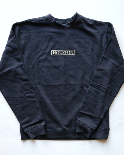 The Houston Stamp Crewneck Sweatshirt (Navy/Khaki)