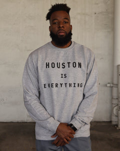 The Houston is Everything Crewneck (Unisex Grey/Black)