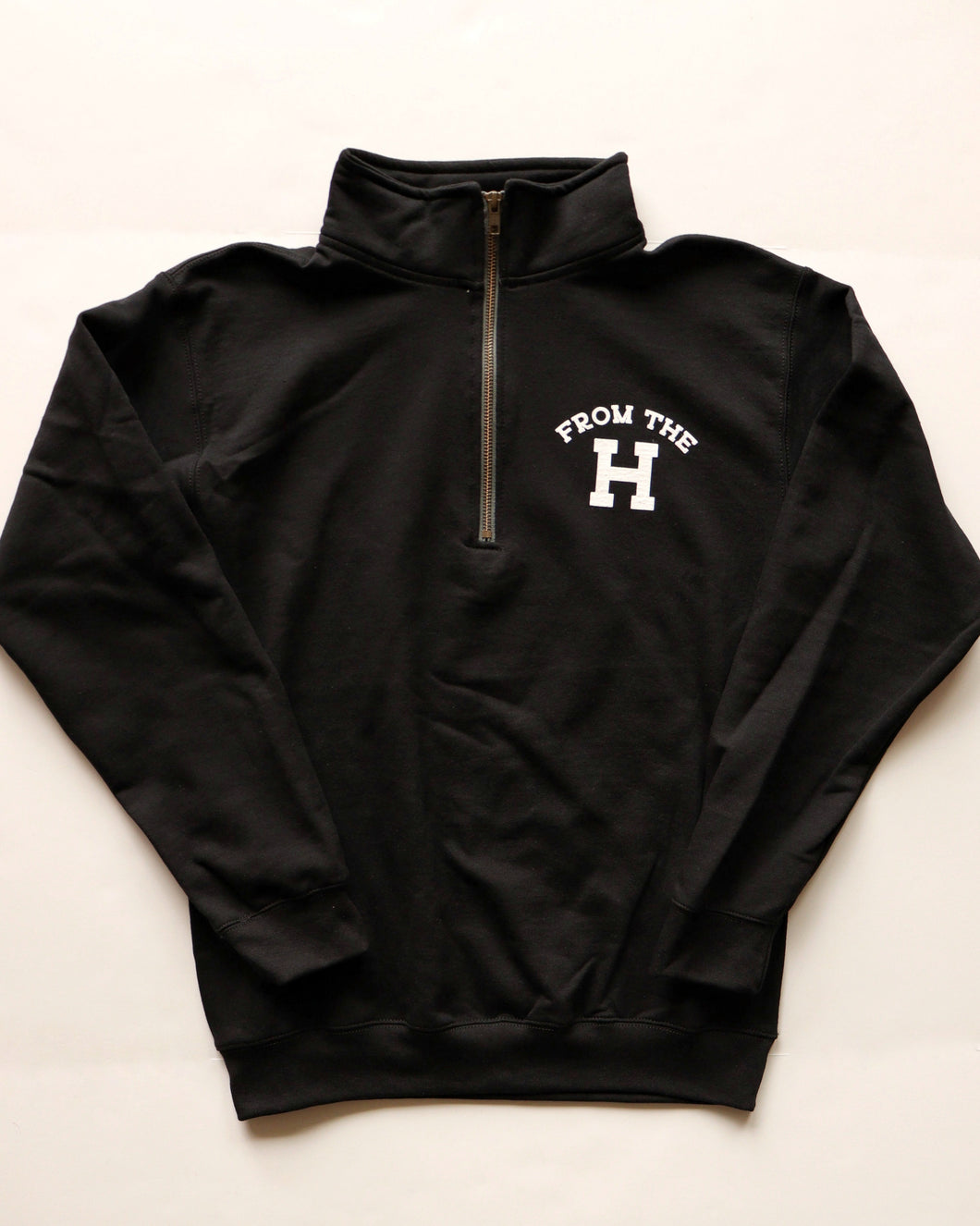 From the H Quarter-zip (Black/White)