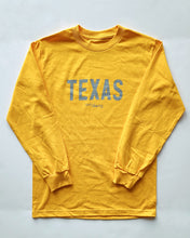 Load image into Gallery viewer, The Texas Long Sleeve Tee (Yellow/Grey)