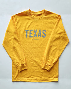 The Texas Long Sleeve Tee (Yellow/Grey)