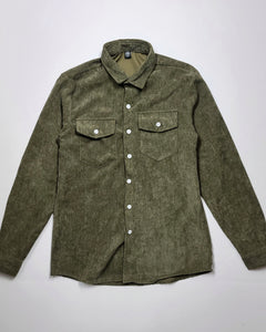 Houston is Everything Men's Corduroy Shirt (Moss Green)