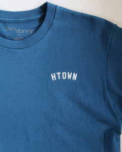 HTOWN Embroidered Tee (Blue/White)