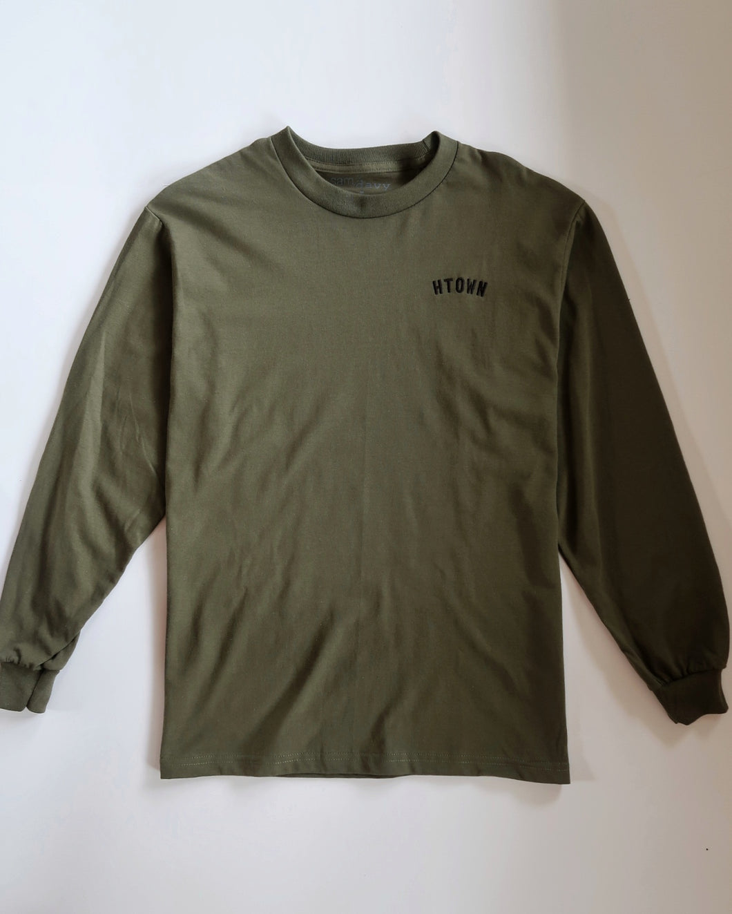 HTOWN Embroidered Longsleeve Tee (Military Green/Black)
