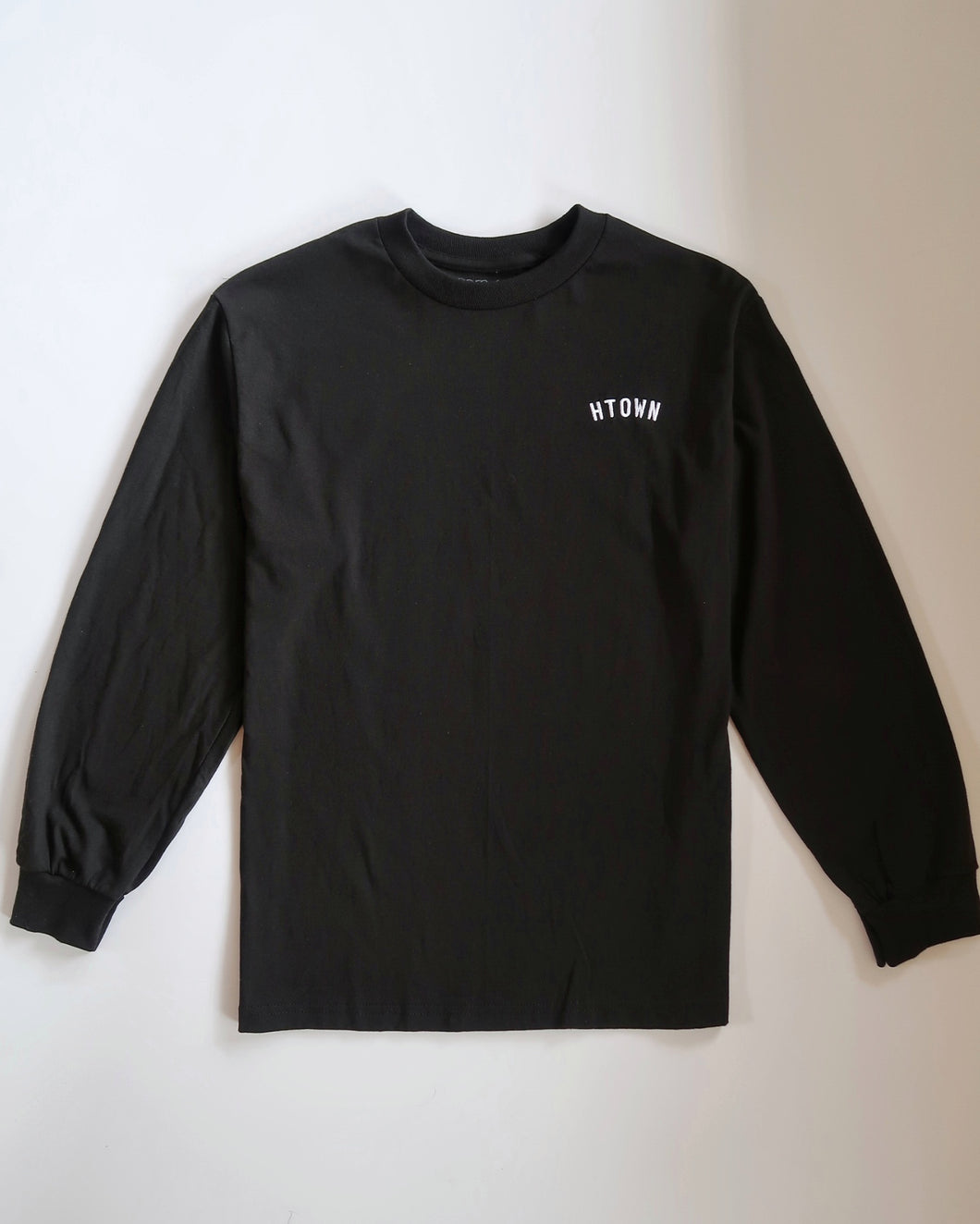 HTOWN Embroidered Longsleeve Tee (Black/White)