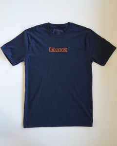 The Houston Stamp Tee (Navy/Orange)