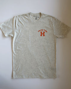 From the H Tee (Oat/Orange)