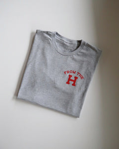 From the H Tee (Grey/Red)