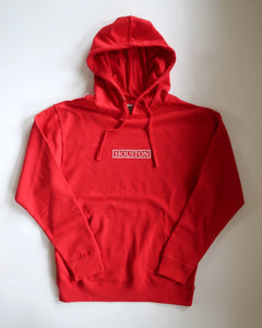 The Houston Stamp Hoodie (Unisex Red/White)