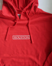 Load image into Gallery viewer, The Houston Stamp Hoodie (Unisex Red/White)