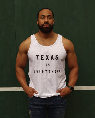 Texas is Everything Tank (Unisex Soft Grey/Black)
