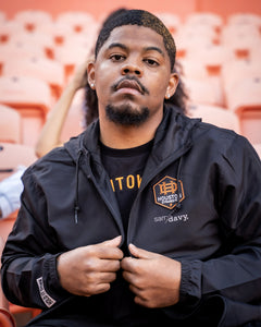 The Sam & Davy × Houston Dynamo Houston is Everything Windbreaker (Unisex Black)