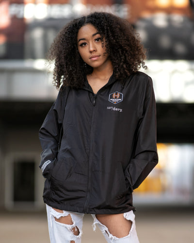 The Sam & Davy × Houston Dash Houston is Everything Windbreaker (Unisex Black)