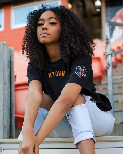 The Sam & Davy × Houston Dash Embroidered Tee (Unisex Black)