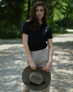 The Official Texas Polo™ (Women's Black/White)