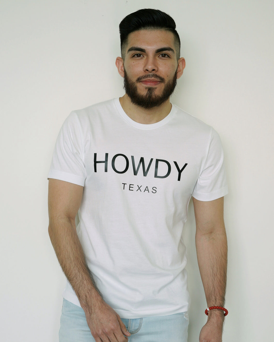 The Howdy Tee (Unisex White/Black)