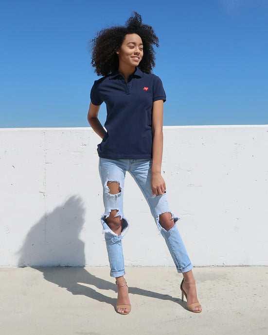 The Official Texas Polo™ (Women's Navy/Red)