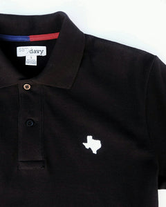 The Official Texas Polo™ (Men's Black/White)