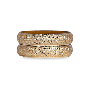 Broad Look-Like Gold Dyed Bracelet Pair