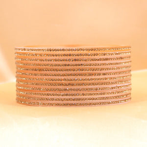 Traditional Stone Bangles for Bridal Chura Mixing by Leshya