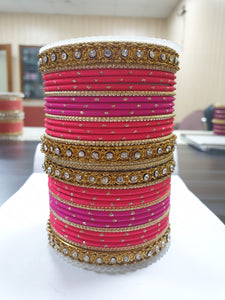 Elegant Colored Thread Bangle Set